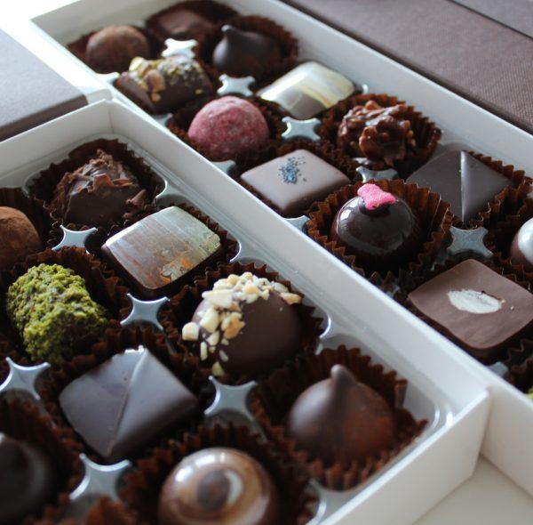 Assorted fresh chocolate