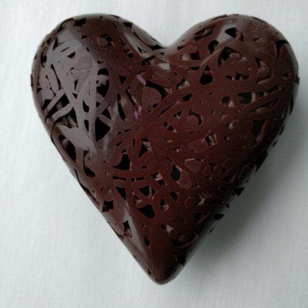 Dark lattice chocolate heart