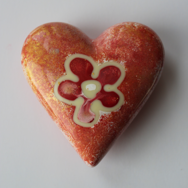 orange chocolate heart