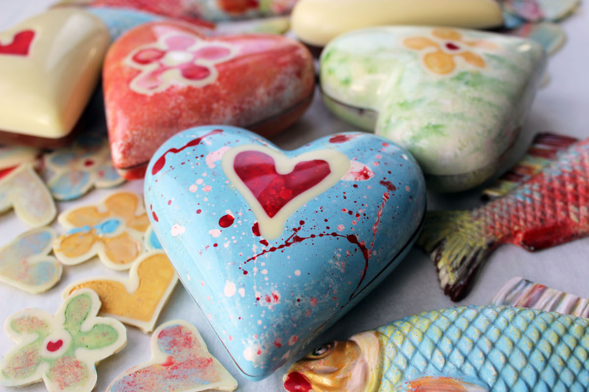 Hand painted hearts