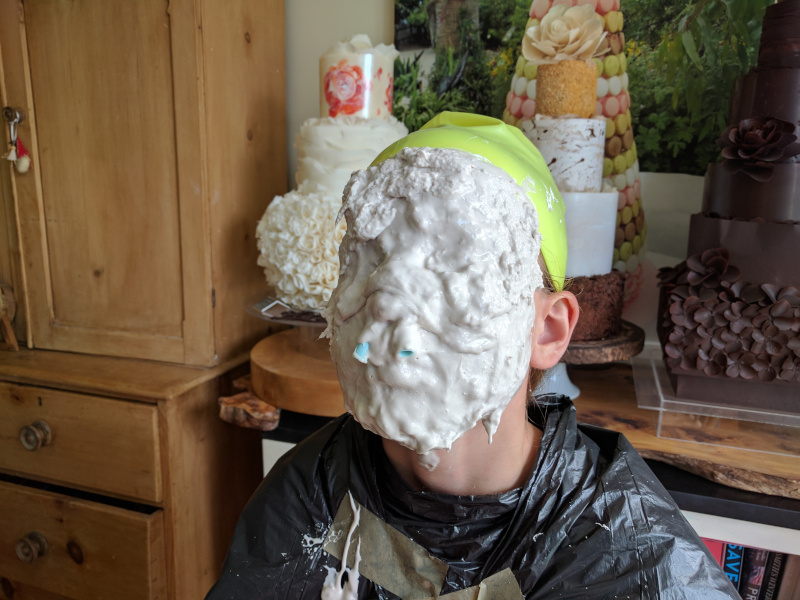 making chocolate face masks using alginate moulds