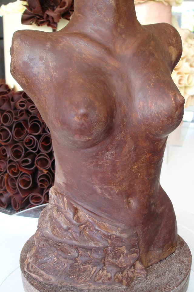 chocolate torso sculpture by Nicky Grant