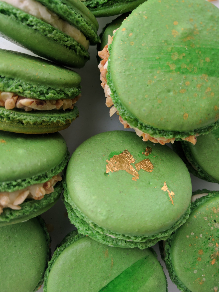 Mint Green Macarons