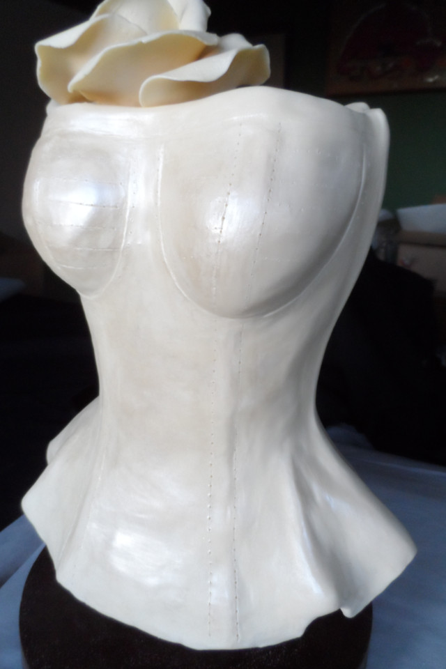 White chocolate torso handmade for Elon Musk