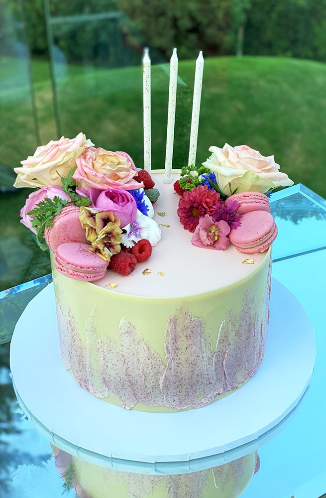 Lemon and Raspberry Celebration Cake by Nicky Grant