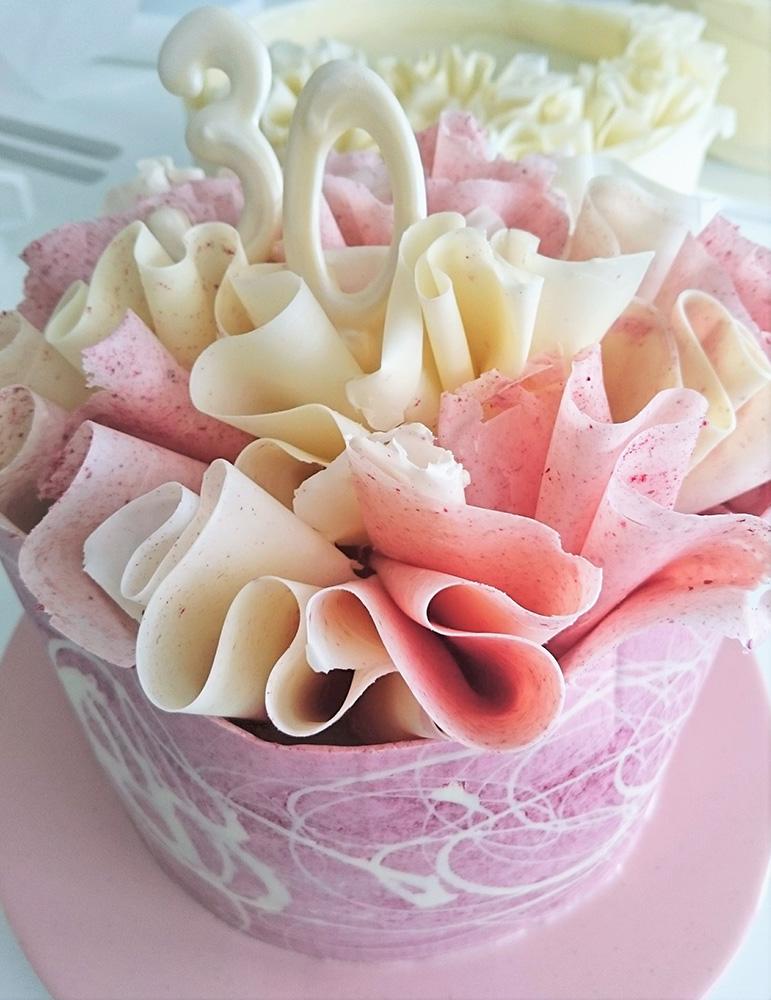 Raspberry Ruffle Birthday Cake by Nicky Grant